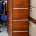Filing cabinet wood E70 with key