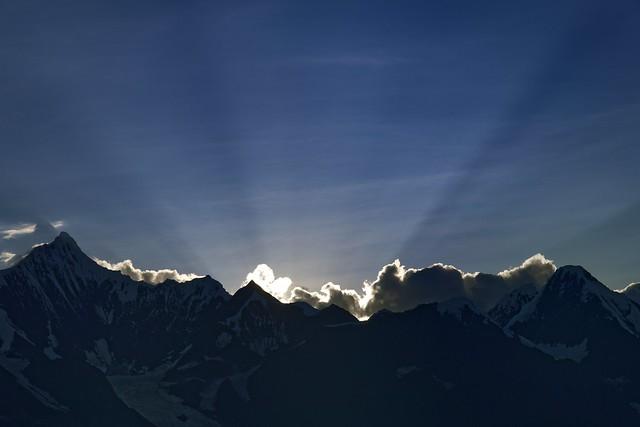 Sunset at Mt Khawa Karpo, Tibet 2018