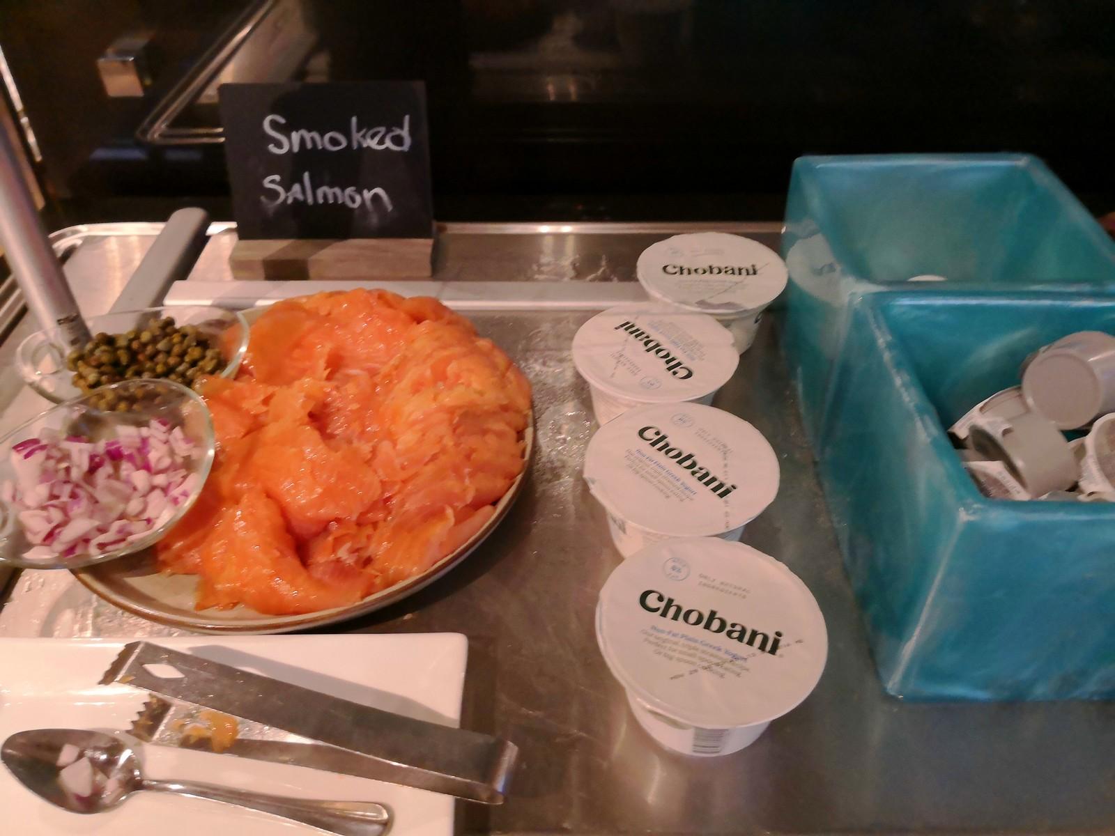 Smoked salmon and yogurt