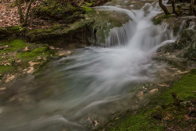 Autour des cascades de St Maurin (Verdon)...  Around the waterfalls of St Maurin (Verdon) ...