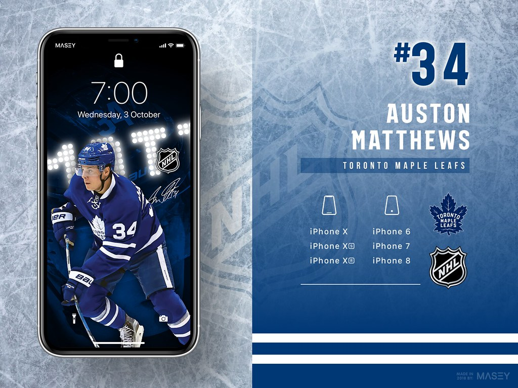 Auston Matthews (Toronto Maple Leafs) iPhone Wallpaper