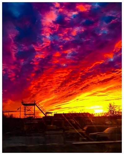 colorfulskies color oklahomasunrise morningsunrise morning sunrise