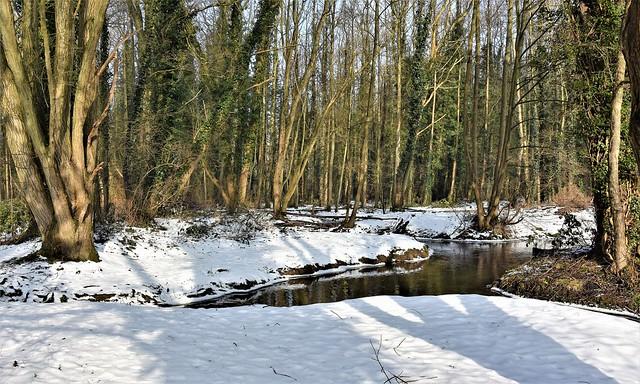 Snowy river scene.