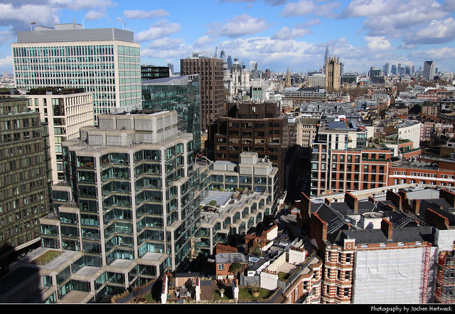 View from Westminster Cathedral, London, UK