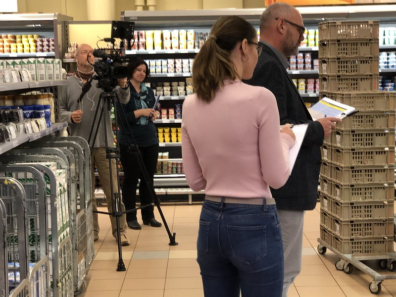 Filming in Migros