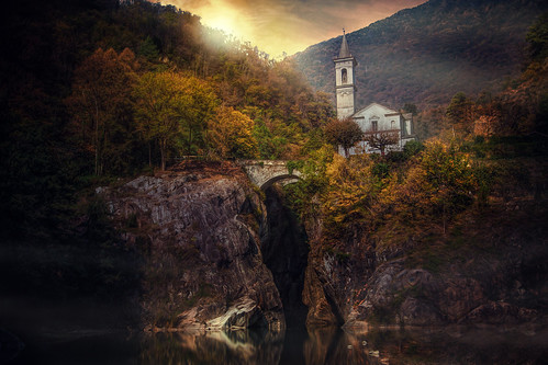 cannobio italy landscape eveningmood sunset church nature orridodisantanna