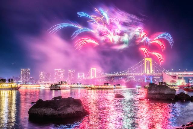 Odaiba Rainbow Hanabi