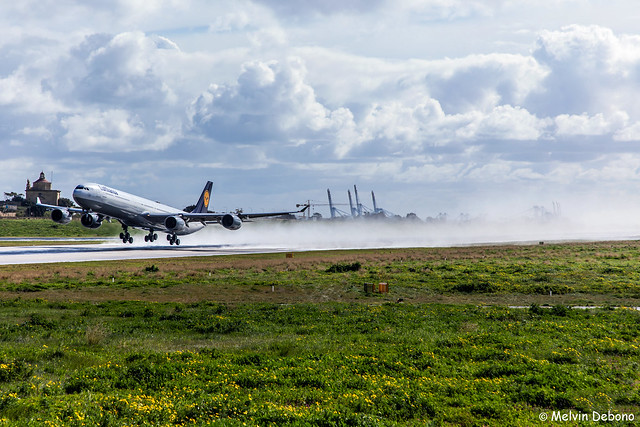 Lufthansa Airbus A340-642X  |  D-AIHV  |  LMML