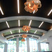 Artful lighting fixtures at Middleburg Heights. In July 2018, State Librarian Beverly Cain, State Library Board President Krista Taracuk, and Bill Morris visited the Cuyahoga County Public Library.  they toured the Parma-Snow Branch, Middleburg Heights Branch, and the Maple Heights Branch on this visit.