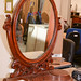 Ornate mahogany mirror E95