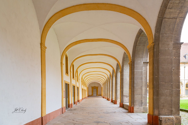 Arched Colonnade in Cluny Abbey, France