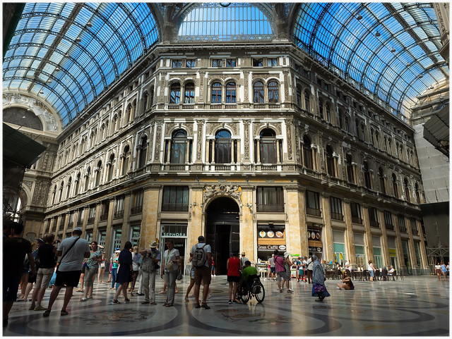 Inside the Galleria Umberto I