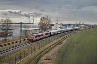 Alstom - BB 36004, BB 36005 wagons - Danube Express VUZ Velim test track Czech Republic 28.1.2019   by Tomáš Pelech