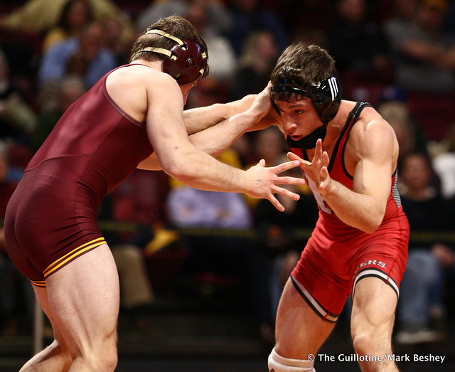 133 #3 Nick Suriano (Rutgers) tech fall Skyler Petry (Minnesota) 20-5. 190106AMK0022