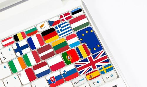 Flags on keyboard | by wuestenigel