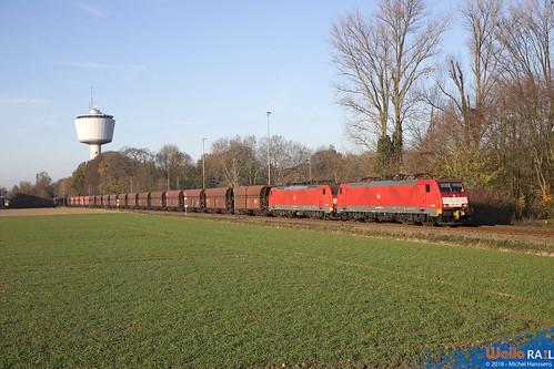 189 045+044 DB Cargo . Dülken . 18.1.18.