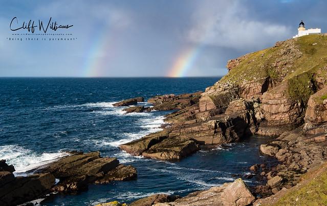 Double rainbow at Stoer Lighthouse