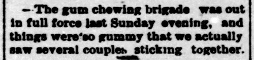 1888 - gum chewing and kissing - Enquirer - 8 Dec 1888 | by historic.bremen