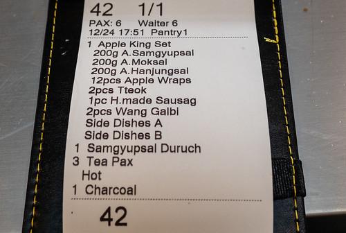 Our order at Apple Samgyupsal Korean Barbeque Restaurant, Jaya One. | by huislaw