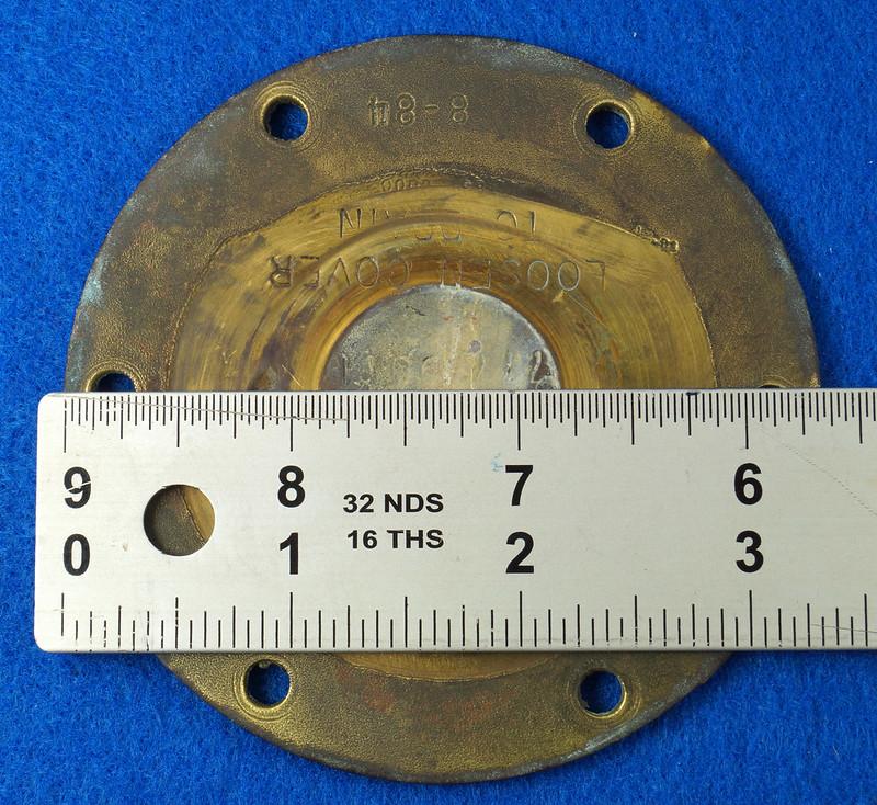 RD26699 Jabsco 2 inch Bronze Pedestal Pump Housing & Plate Only #18370-0000 DSC08790