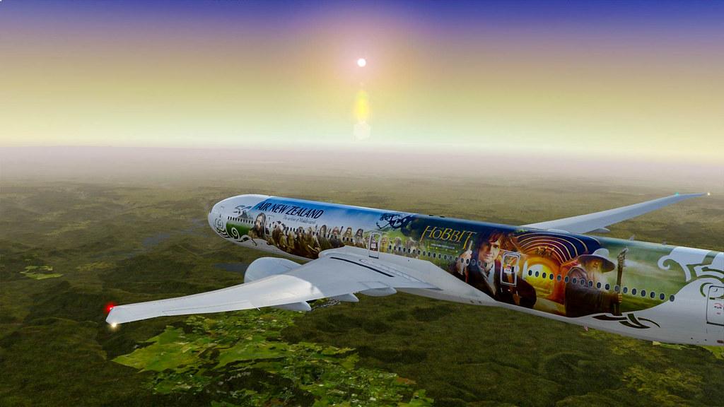 P3D   PMDG Boeing 777-300ER Air New Zealand Hobbit Livery