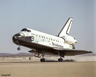 NASA's Space Shuttle Atlantis. Original from NASA. Digitally enhanced by rawpixel.