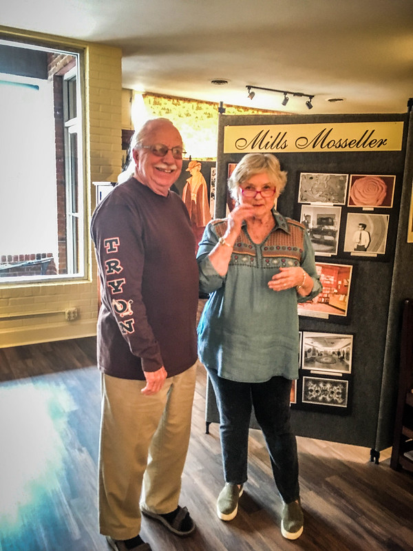 Mayor Allen Peeples and Docent Mary