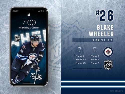 #26 Blake Wheeler (Winnipeg Jets) iPhone Wallpapers | by Rob Masefield (masey.co)