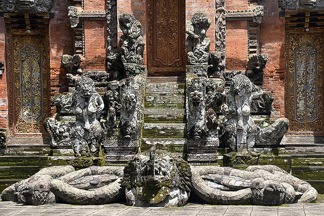 Temple at Monkey Forest, Bali.