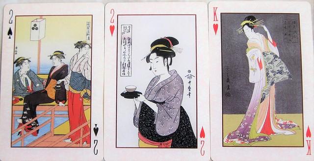 Ukiyo-e beauties playing cards 0086
