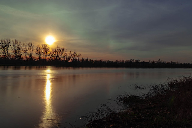 Sunset on the Elbe