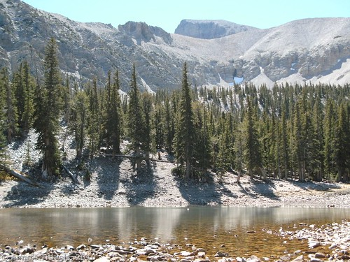 Theresa Lake along the Alpine Lake Loop in Great Basin National Park, Nevada