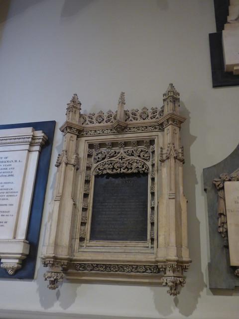 Interior of  Birmingham Cathedral - memorial to John Bennett