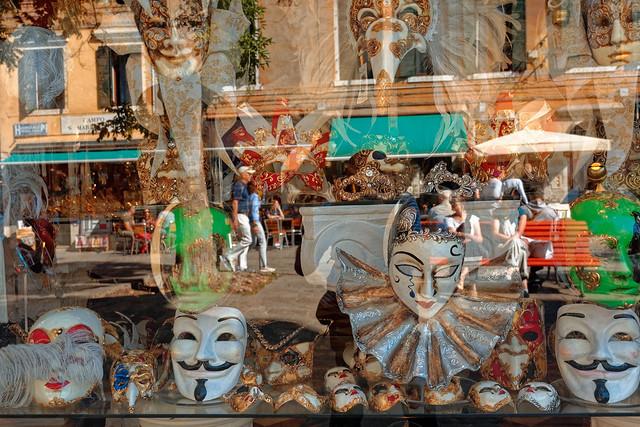 Venice / Carnavalesque reflection / Campo Santa Maria Nova