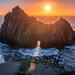 Sony A7R III Pfeiffer Beach Keyhole Rock Big Sur Winter Solstice Sea Cave Sunset! Fine Art California Coast Landscape Seascape Photography! Sony A7R3 & Sony FE 16-35mm f/2.8 GM G Master Lens! High Res 4k 8K! Elliot McGucken Fine Art Pacific Ocean Sunset! by 45SURF Hero's Odyssey Mythology Landscapes & Godde