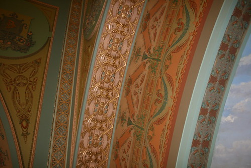 Detail of the interior of the Lewis Sullivan bank in Owatonna, MN