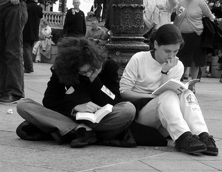 Reading at the demo 2 | by malias