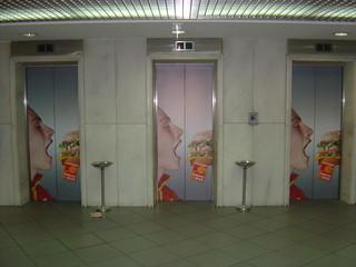 Advertising on elevators