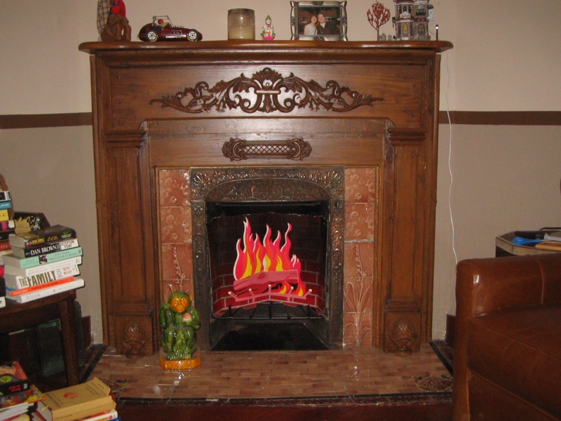 antique fireplace mantel custom fitted for original fireplace