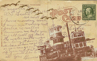 post card altered