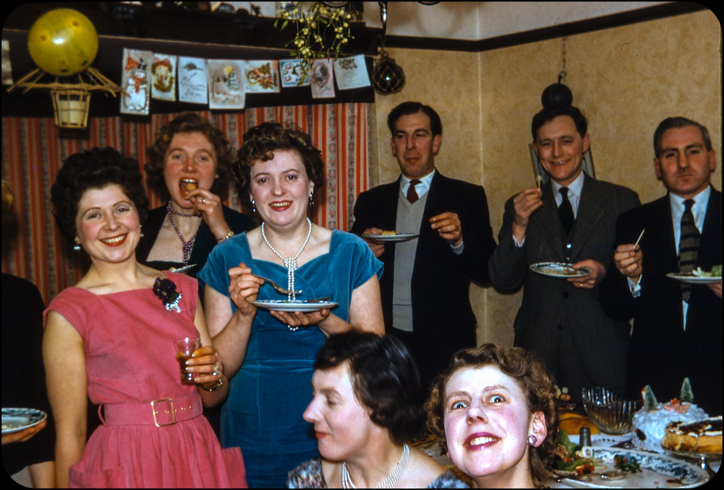 24-hour Party People - Kodachrome Slide - 1950s