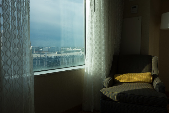 Hotel window and chair