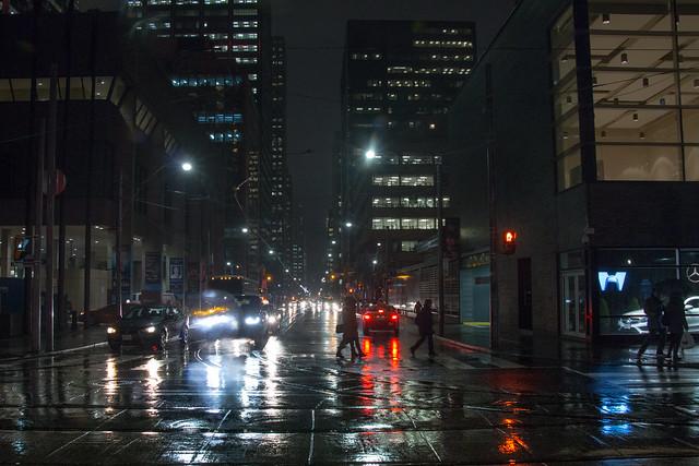 Rainy Winter Night