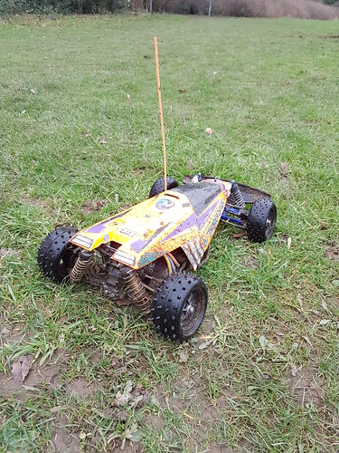 Tamiya Thunder Dragon orange with TRF rear suspension | by cyturner