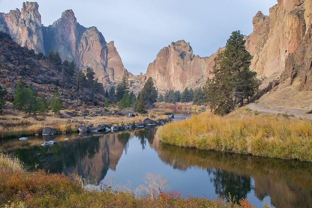 Smith Rock State Park, the rock climber's Mecca. Oregon, US