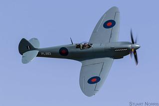 Spitfire PR Mk XI  PL983 G-PRXI - Aircraft Restoration Company Duxford   by stu norris