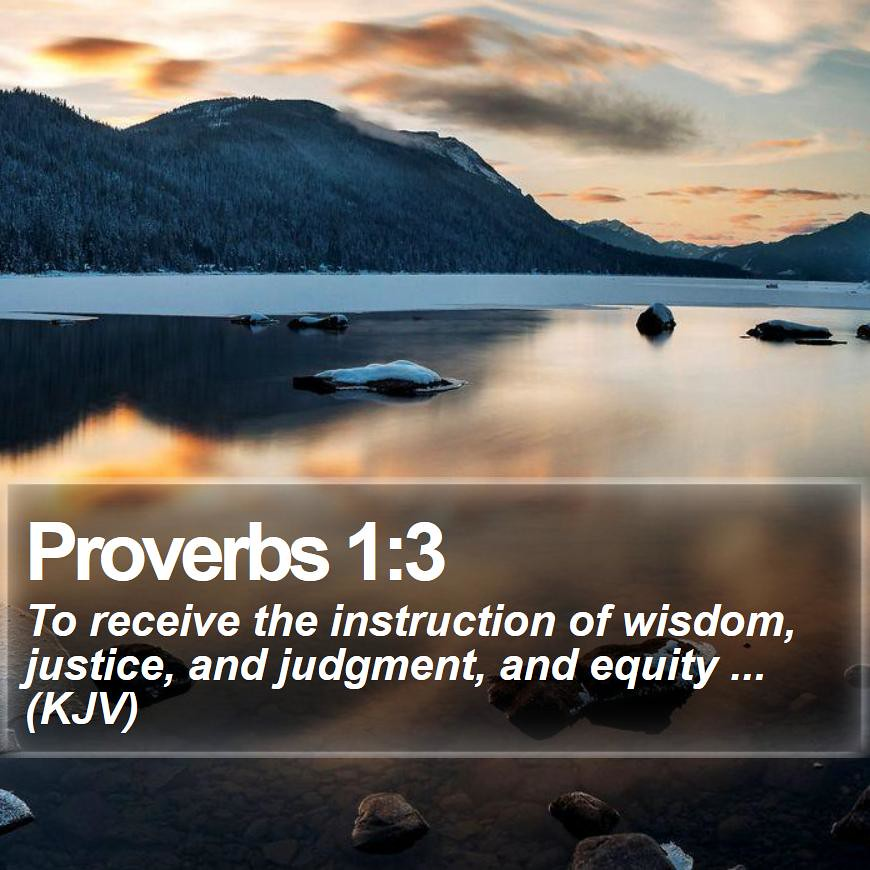 Daily Bible Verse - Proverbs 1:3 | Proverbs 1:3 To receive t