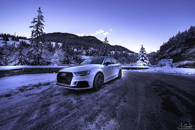 Audi RS3 in Quattro Land - Graubünden - Switzerland