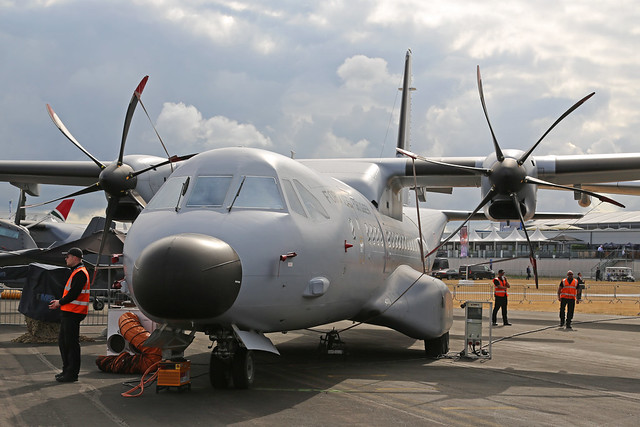 16703 Casa C295M Portuguese Air Force Farnborough Air Show 18th July 2018