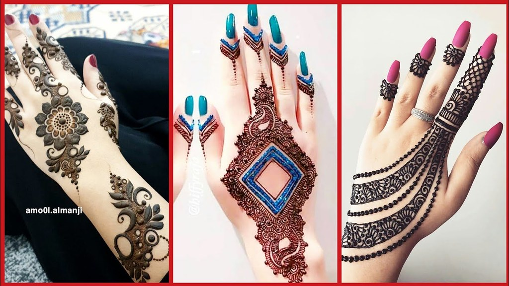 Latest Top Stylish Mehndi Designs Collection For Girls 201